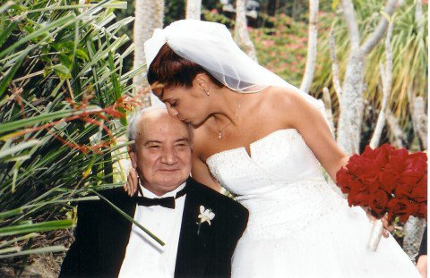 Papi and I at my wedding in 2004, 4 years before he passed away.