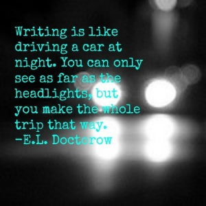 Writing is like driving