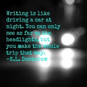 Writing is like driving