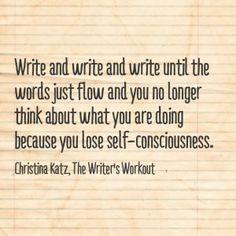 Write and write and write